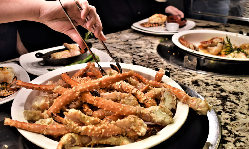 Crab legs at Sterling Brunch buffet in Las Vegas